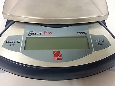 OHAUS Scout Pro SP2001 Analytical Digital Scale Lab Balance 2000g