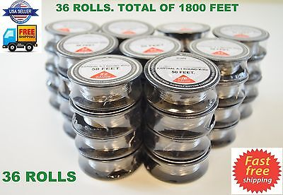 36 ROLLS 1800' ft - 22 Gauge AWG A1 Kanthal Round Wire 0.64mm Resistance A-1