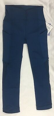 Lululemon Women Sole Training Crop Luxtreme High Rise PSDN Teal Size 12