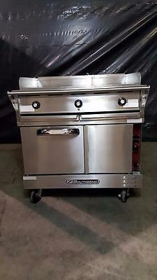 """Southbend TVES/10WC Flat Top Range w/ Convection Oven, 24"""" Griddle & 2 Burners"""