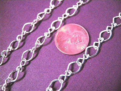 5 feet silver finish mother and son chain-5276