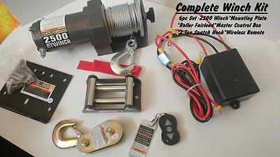 BADLAND WINCH 2500LB Complete Kit - Remote*Control*Mount*Fairlead*Snatch  Hook