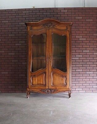 Antique French Armoire / Display Cabinet / Armoire / French China Cabinet