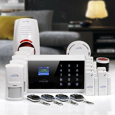 HOMSECUR Wireless 3G SMS Autodial Home Security Alarm System With Smoke Detector