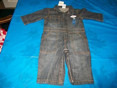 NWT Gymboree Denim One Piece Outfit Size Boy's 6/12 Months