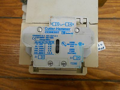 Cutler Hammer C320Kgs1 Auxiliary Contact