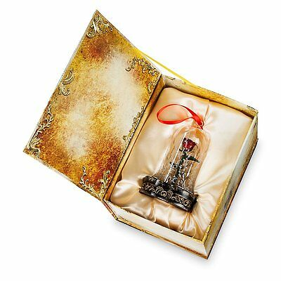 Disney Beauty & The Beast Live Action Enchanted Rose Light-Up Ornament LE - NEW