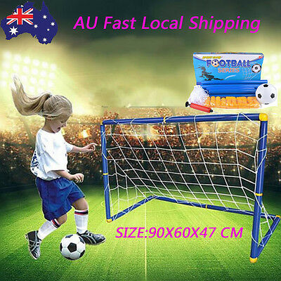 L Size Kids Football Gate Soccer Goal Pop Up Net Tent Outdoor Play Training Toy