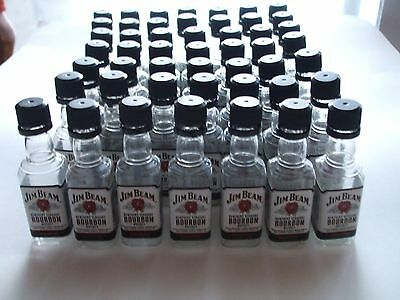 49pcs EMPTY JIM BEAM Straight Bourbon Whiskey 50ml Mini Plastic Liquor Bottles