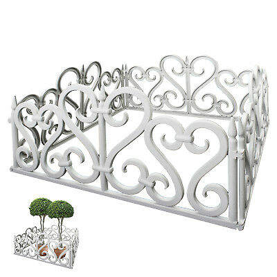 4 Panels Sectional Garden Fence Fencing Plastic Outdoor Gate Plant Tree Decor