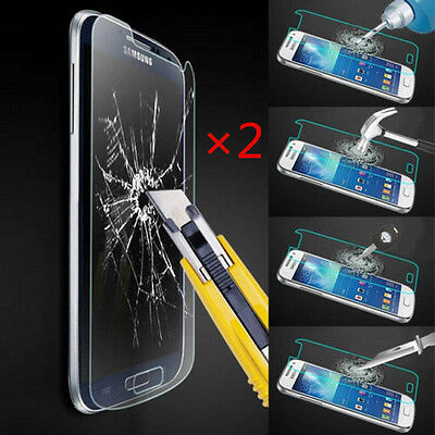 100% Genuine Tempered Glass Film Screen Protector Protective For Samsung Galaxy