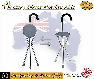 Walking Stick with Seat Tripod/ Seat / Cane. Great Value NEW