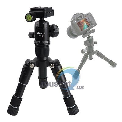 【US】XILETU FM5-Mini Aluminium Tripod +Ball Head For Canon Nikon Sony DSLR Camera