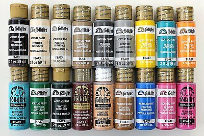 FolkArt Acrylic Paint in Assorted Colors 2-Ounce, PROMOFAII Best Selling Colors