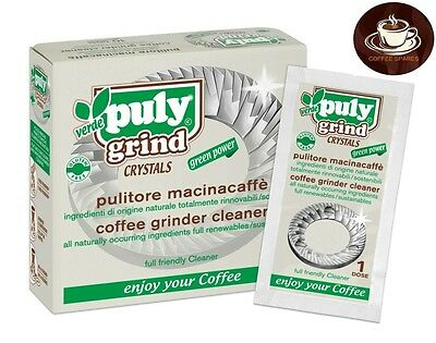 Coffee Grinder Cleaner Cleaning Crystals - Puly Grind  *BOX of 10 x 15 gram*