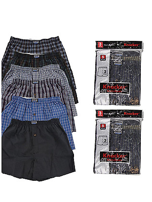 3 6 12 Men knocker boxer Plaid Shorts Underwear pairs Size S-3XL 6.85-27.75 lot
