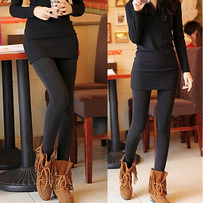 Women's Winter Thick and Warm Fleece Lined Thermal Stretchy Leggings Pants li