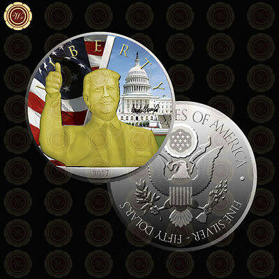 WR US President Donald Trump Colorized Silver Coins for Sale Valuable Coins Gift