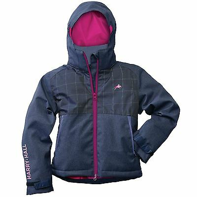 Harry Hall Equestrian Reflective Rossington Junior Waterproof Breathable Jacket