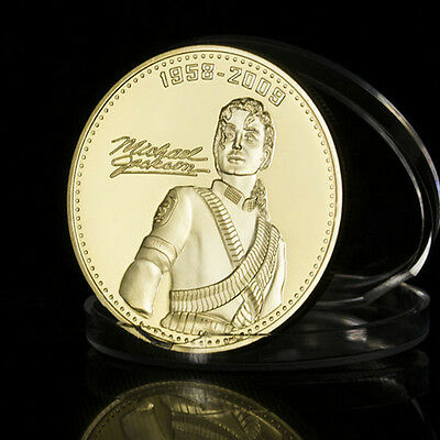 Michael Jackson 24 kt gold plated Commemorative coin