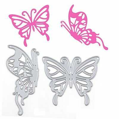 2Pcs Butterfly Lovers Cutting Dies Stencil DIY Scrapbooking Album Paper Card