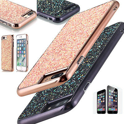 Ultra Thin Glitter Hybrid Shockproof Hard Case Cover For Apple iPhone 7 / 7 Plus