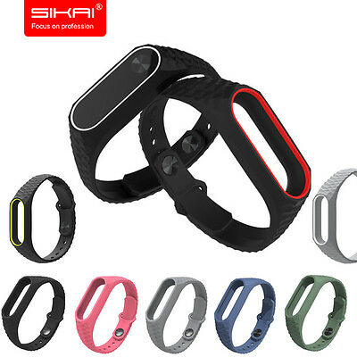 New Silicone Wrist Strap WristBand Bracelet Replacement for XIAOMI MI Band 2 TWO
