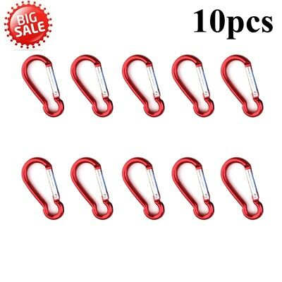 HOT NEW 10x D-ring Snap Hook Carabiner Lock Clip Keychain hook Climbing Backpack
