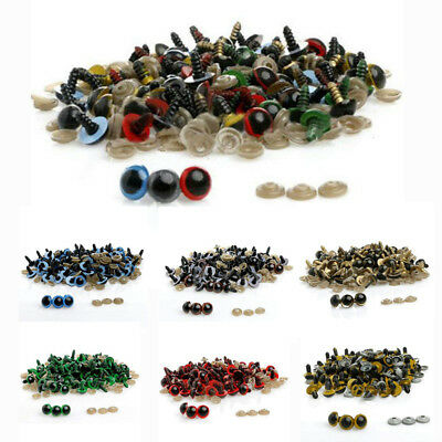 100pcs 10-18mm Plastic Safety Eyes For Plush Toy Doll Animal Puppet Crafts