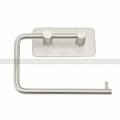 Adhesive Wall Mounted Bath Stainless Steel Toilet Paper Holder Roll Tissue Rack