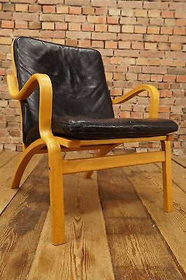 60s Retro EASY CHAIR DANISH LEATHER ARMCHAIR DENMARK LOUNGE Westnofa Vintage