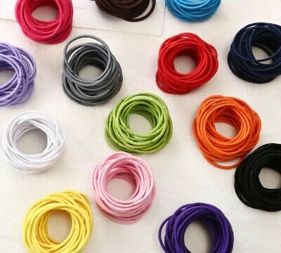 25 x Strong Snagless Rubber Hair Ties Elastics Bands Pick from 12+ Colours