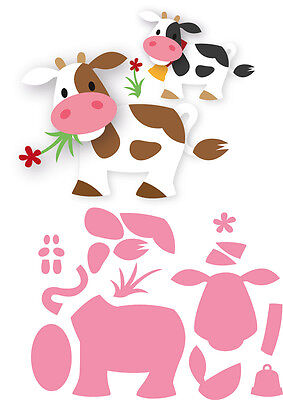 Marianne Design Collectables Die Cut Emboss Stencil Elines Cow Farmyard Col1426