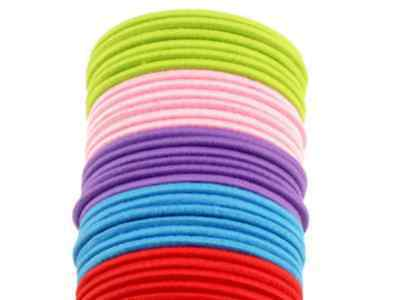50 x Asst Coloured Thick Snagless Rubber Hair Ties Elastics Bands - FREE POST