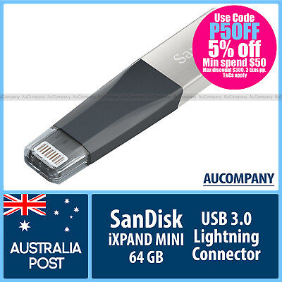 SanDisk 64 GB 64G iXpand Flash Drive for iPhone iPad Lightning Connector USB 3.0