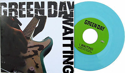 "Green Day Waiting Uk 7"" Light Blue Vinyl Single - Limited Edition"