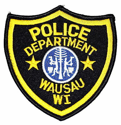 WAUSAU WISCONSIN WI Police Patch TREE WOODCUTTER AX ~