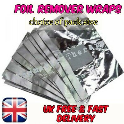 Gel Nail Foil Polish Remove Wraps Removes Acrylic Soak Off Removal - use Acetone