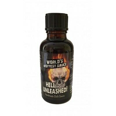 Chilli Sauce - Hell Unleashed! The HOTTEST Sauce In The World! - NEW 30ml