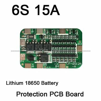 6S 15A PCB BMS Protection Board For 6 Packs 18650 Li-ion Lithium Battery Ce T9M5