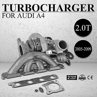 New for 2005-2009 Audi A4 2.0T B7 BUL BWE BWT K03 Turbo charger 06D145701J Top