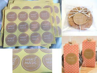 Hand Made Especially For You Stickers Home Baking Gift Packaging Seals Craft