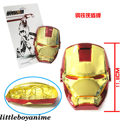 Marvel Comics Iron man mini ring shield Cosplay prop toy collection