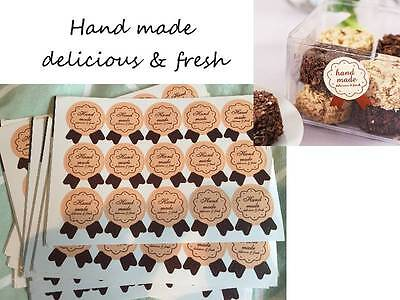 Hand Made Delicious & Fresh Stickers Home Baking Gift Packaging Seals Craft