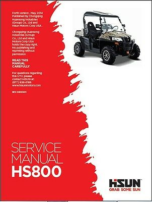 Hisun HS800 UTV ( HS800UTV ) Service / Maintenance Manual CD