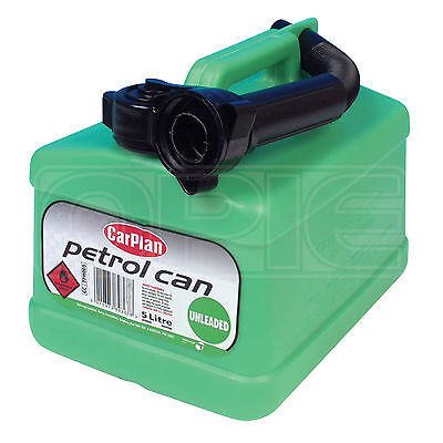 CarPlan - TETRACAN UNLEADED / PETROL Green 5L 5 Litre - Single Petrol Can