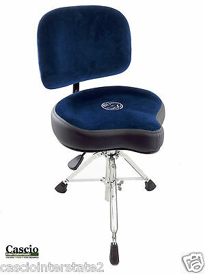 Roc-N-Soc NROB Nitro Blue Drum Throne w/ Original Seat PLUS BACKREST
