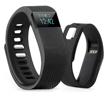Health Bluetooth Fitbit Style Smart Bracelet Watch Strap Sport Fitness Tracker