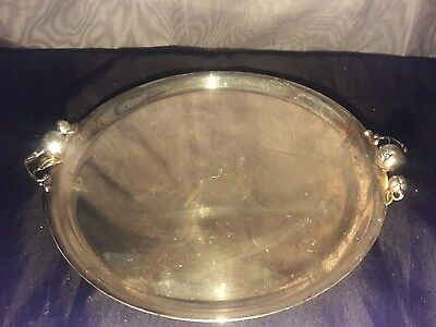 "Tomato Ingra Willcox IS International Silver Co. Serving Plate 10"" #2570 sale -$"