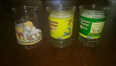 Curious George Welch's Jelly Glass #6 and #4..... Plus Pooh Bear